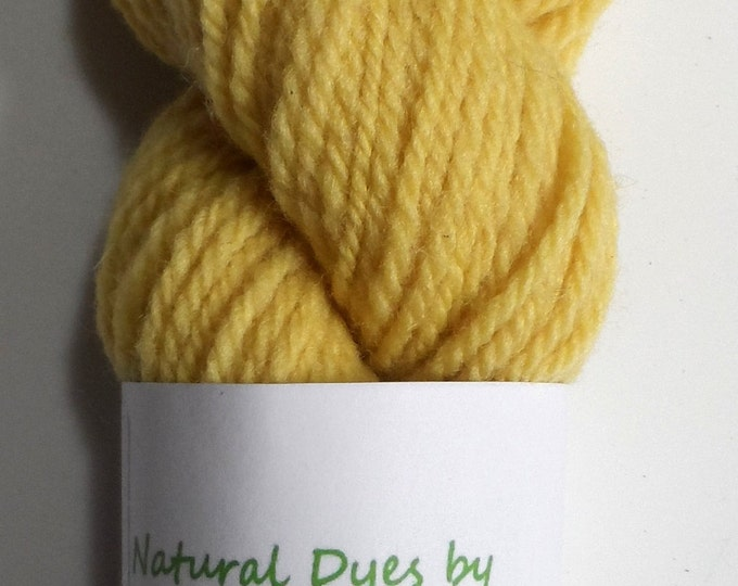 Safflower Light Yellow Aran Southdown Yarn 50g