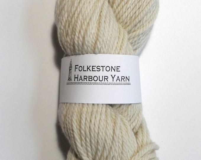 Elizabethan Pale Grey Chunky Merino Wool Yarn 100g 07