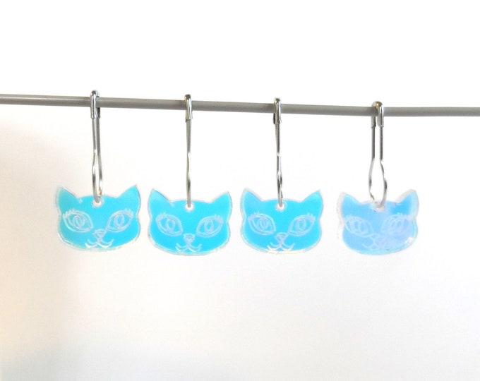 Bella Cat Stitch Markers Set of 4 Iridescent Rainbow
