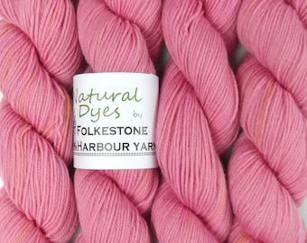Cochineal Bright Pink Natural Dye Sock 4ply Yarn 50g #56