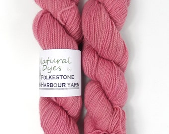 Cochineal Raspberry Pink Natural Dye Sock 4ply Yarn 50g #57