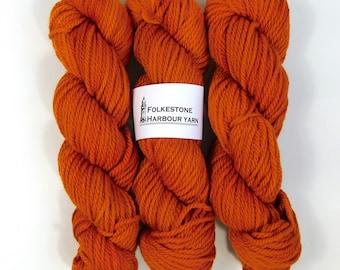 Saffron Orange Wool Yarn 100g Chunky  Merino 22
