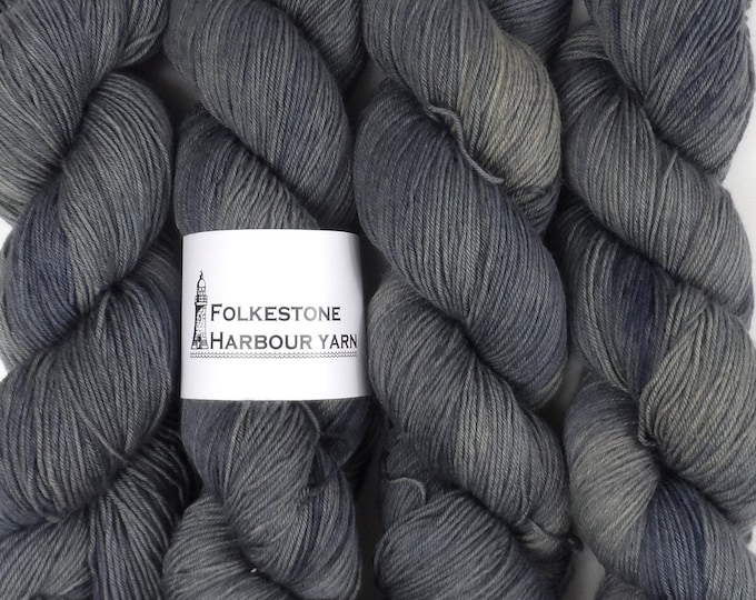 Anthracite Grey Merino Blend 100g Sock Wool Yarn 09