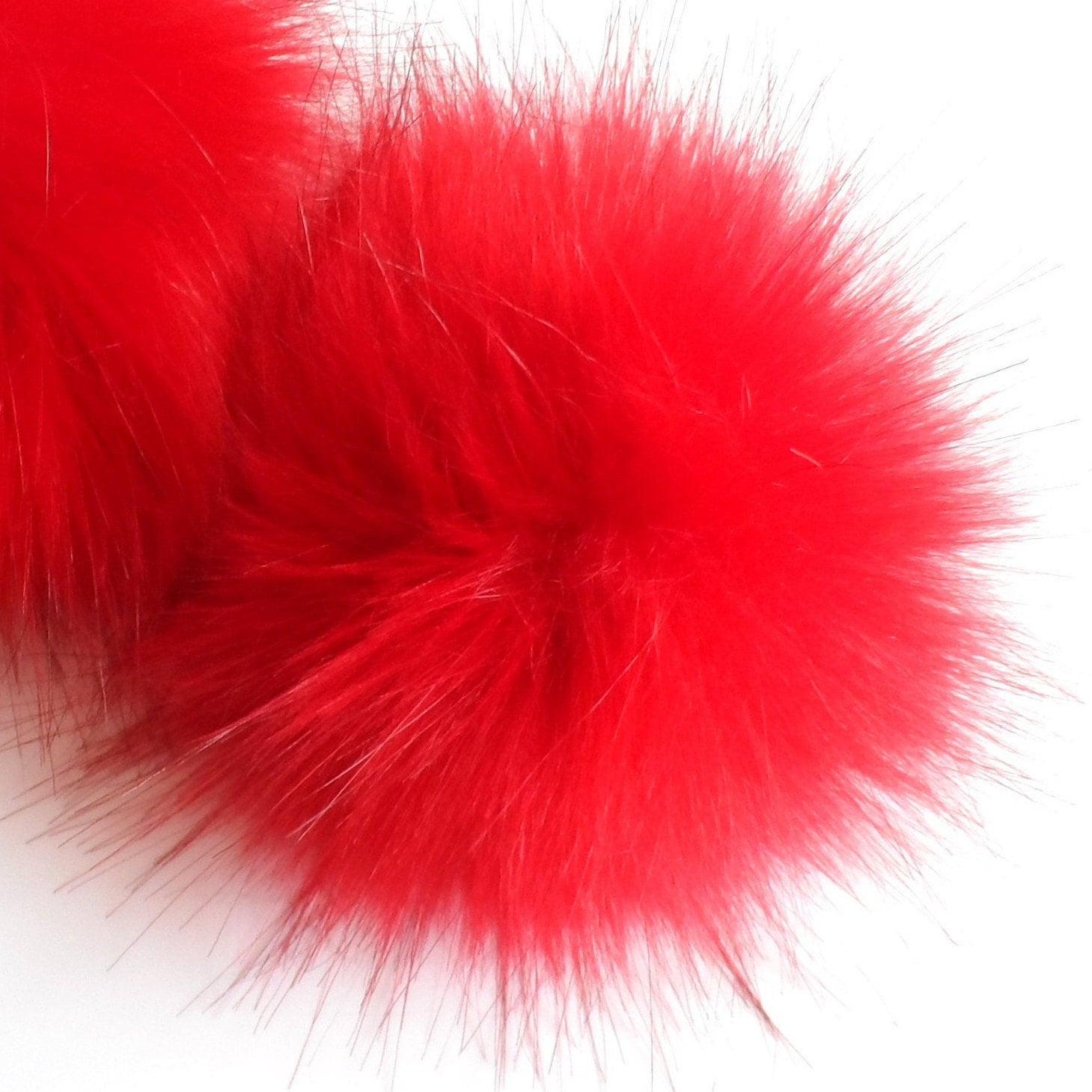 Fake Fur Pom Pom choice of colours  Reds Pinks Purples