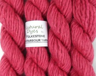 Raspberry Cochineal Super Chunky Corriedale Yarn 50g #57
