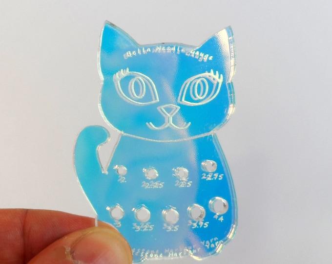 Bella Cat Mini Knitting Needle Gauge Metric  Iridescent