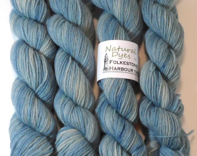 Indigo Pale Blue #26 Romney DK Yarn 50g