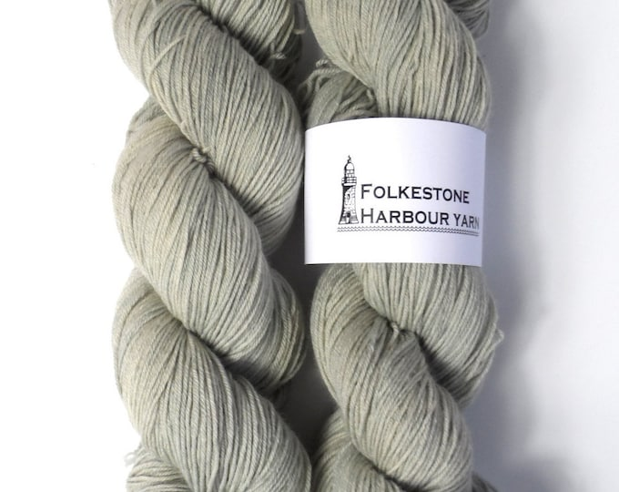Beach Hut Grey Merino Blend 100g Sock Wool Yarn