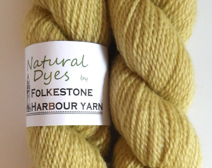 Yellow Mugwort BFL Sock 50g Blue Faced Leicester
