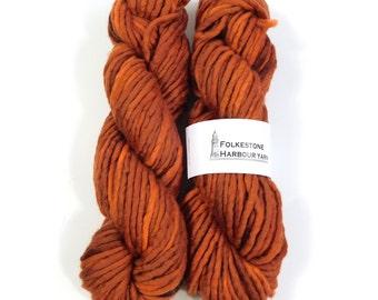 Chestnut Brown Wool Yarn 100g Super Chunky Merino 04