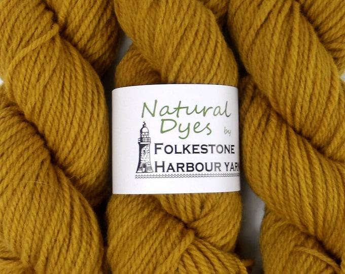Mustard Yellow Buddleia Aran Southdown Yarn 50g