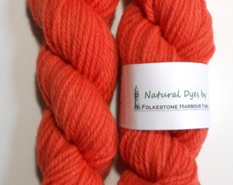 Madder Coral Aran Southdown Yarn 50g