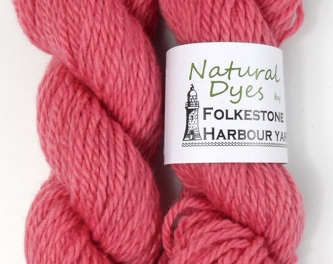 Bright Pink Cochineal Corriedale Chunky Yarn 50g #56