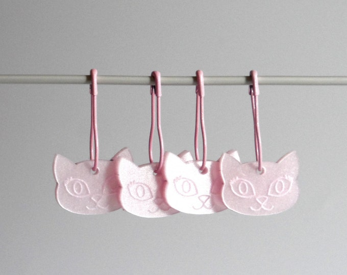 Bella Cat Stitch Markers Set of 4 Pink Iridescent Shimmer