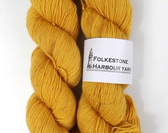 Orpiment Mustard Yellow Merino Blend 100g Sock Wool Yarn 21