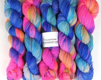 Carnival Variegated Merino Blend 4ply Sock Yarn 100g skein