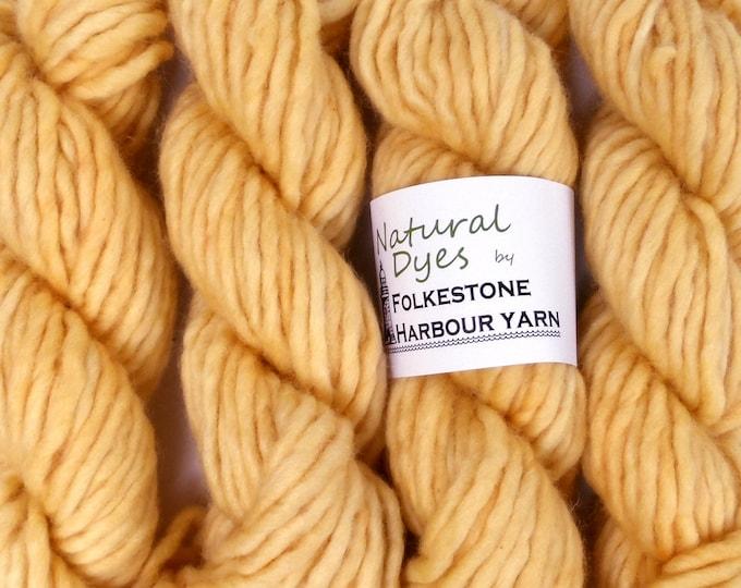 Peach Annatto Super Chunky Corriedale Yarn 50g