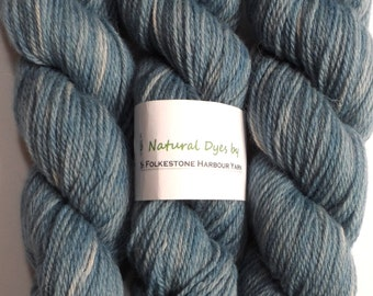 Woad Blue DK Romney Wool 50g