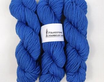 Folkestone Blue Merino Chunky Wool Yarn 14