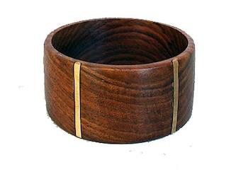 Wood Bracelet with Golden Brass - Cool Elegance