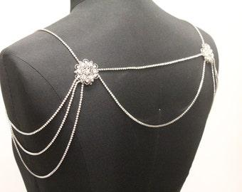 Shoulder Necklace Bridal Rhinestone Necklace Crystal Necklace Shoulder Necklace Wedding Jewelry Bridal Jewelry Wedding Dress Accessory Prom