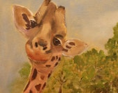 Rafi the Giraffe, Handmade Greeting Card from Merlin's Garden  FREE SHIPPING