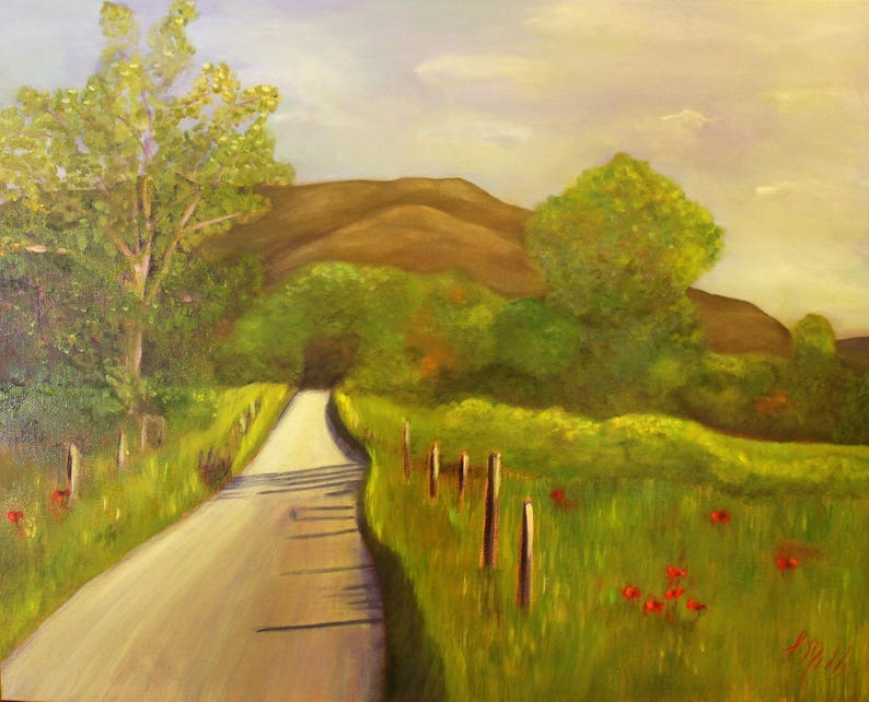 ROAD LESS TRAVELLED 24 x 30  Original Framed Oil Painting by image 0