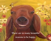 Magnet of Smiling Goat 5-1/2 by 4-1/4 inch size FREE SHIPPING