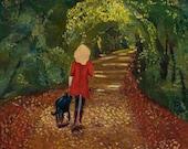 A Walk in Heaven, Handmade Greeting Card from Merlin's Garden  FREE SHIPPING