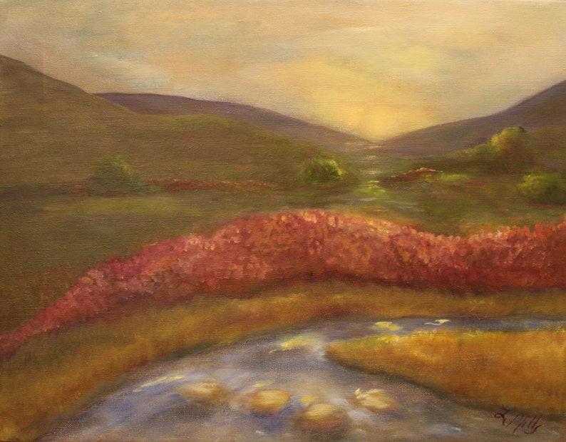 MORNING REVERIE 14 X 18 Original Oil Landscape by Lesley image 0
