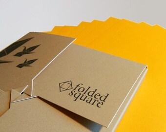 "Yellow Origami Paper | 100 Sheets, 15cm (6"") Square | Pantone 116"