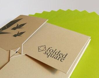 "Green Origami Paper | 100 Sheets, 15cm (6"") Square | Pantone 390"