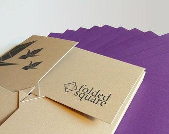 "Violet Origami Paper | 100 Sheets, 15cm (6"") Square | Pantone 2607"