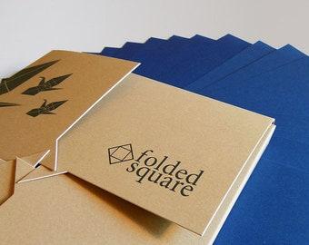 "Blue Origami Paper | 100 Sheets, 15cm (6"") Square | Pantone 301"