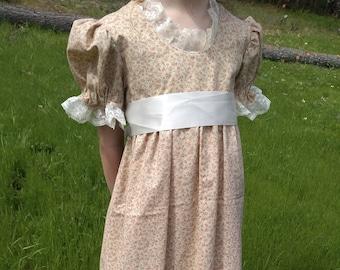 Age Sizes 2-6 1805-1820 Children/'s Regency Dress