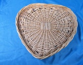 Woven Heart Basket Wall Hanging - Strong Weave - 11 1 2 quot across