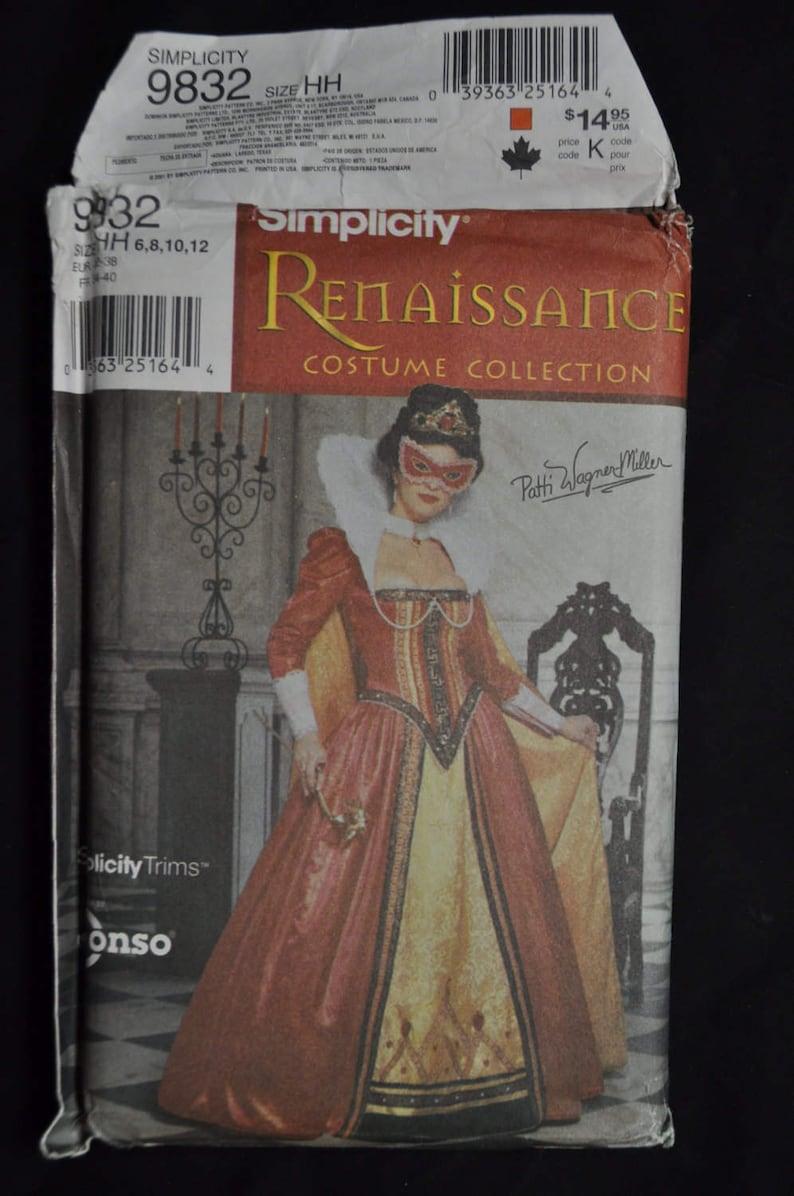Misses' Renaissance Costume Pattern - sizes 6,8,10,12 - UNCUT - Simplicity  9832