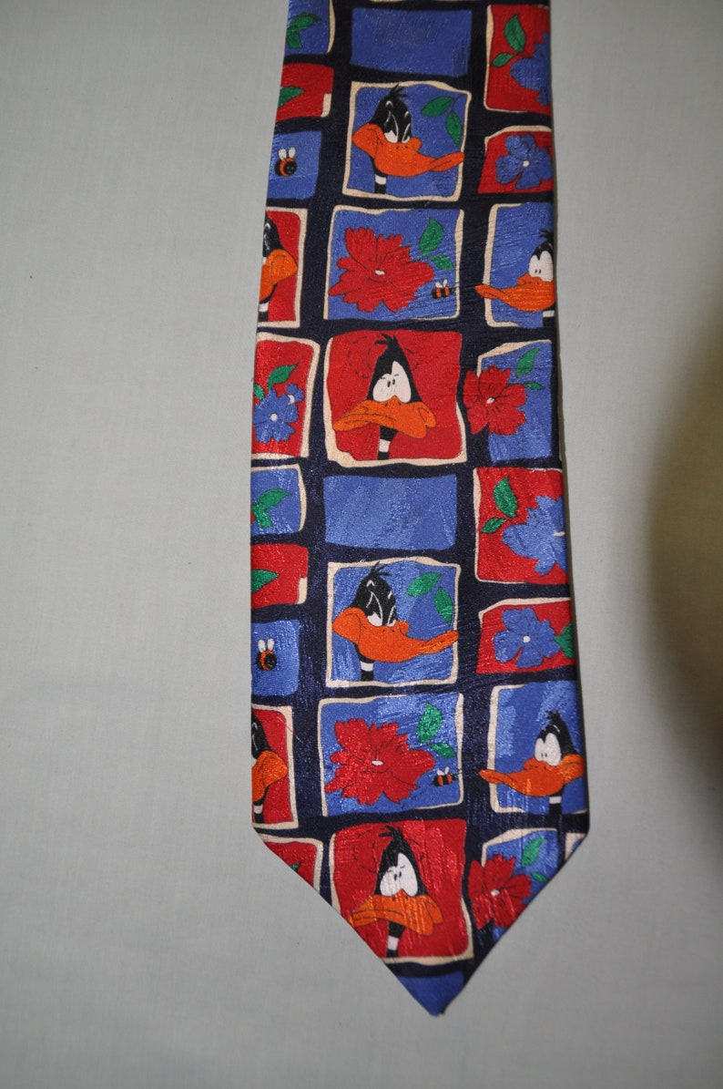 bed84d0e20e6 Vintage Necktie Daffy Duck by Marks and Spencer Free | Etsy
