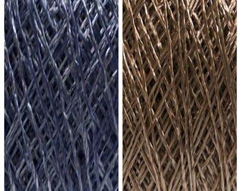 100% Viscose yarn. Natural superfine summer yarn. 50 gr/ 500m