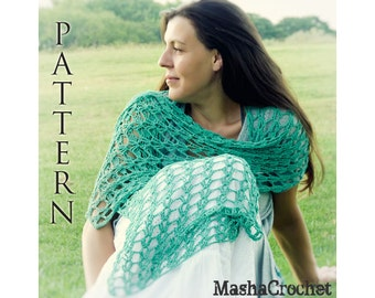 Summer Magic Scarf Easy Crochet Pattern crochet wrap/ long scarves scarf
