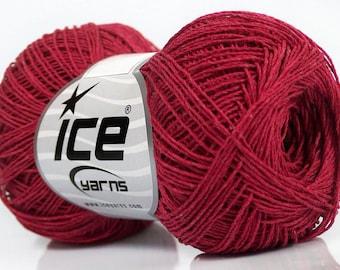 100 % Cotton superfine yarn k Fuchsia  natural yarn 50gr/ 250m Summer knitting/ crochet yarn