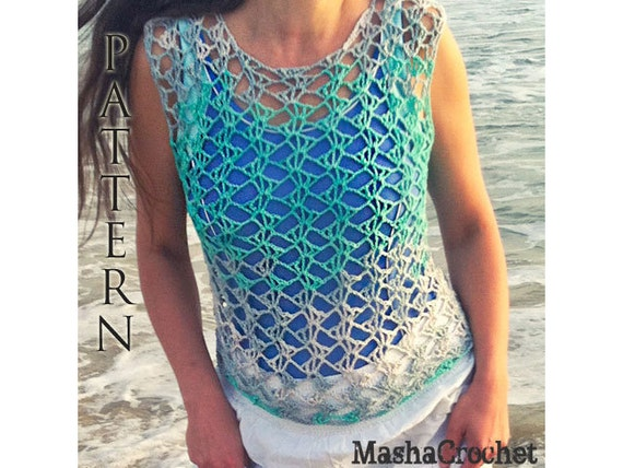 Crochet Pattern Beach Cover Up Crochet Pattern Ombre Lace Etsy