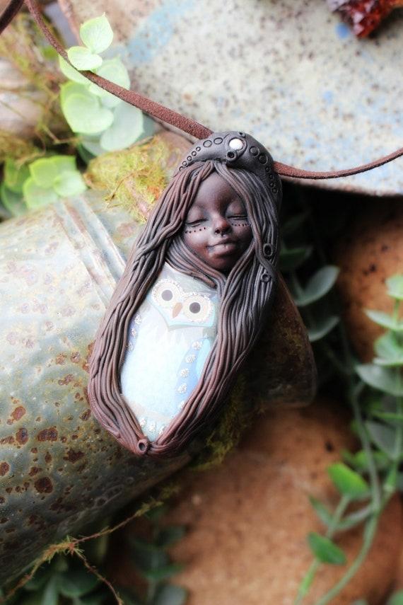 Owl Spirit Animal Necklace. Shamanic Animal Totem Necklace