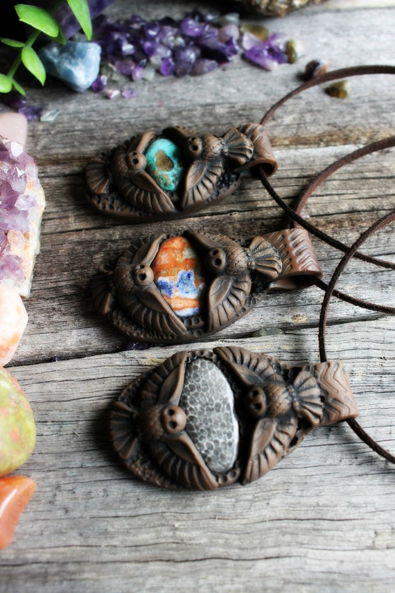 Owl Medicine Necklace. Shamanic Spirit Animal Totem Necklace.
