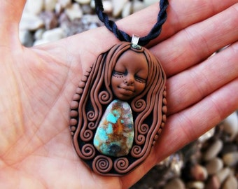 Chyrsocolla Healer Necklace, Stone of the Goddess, Empowerment and Communication.
