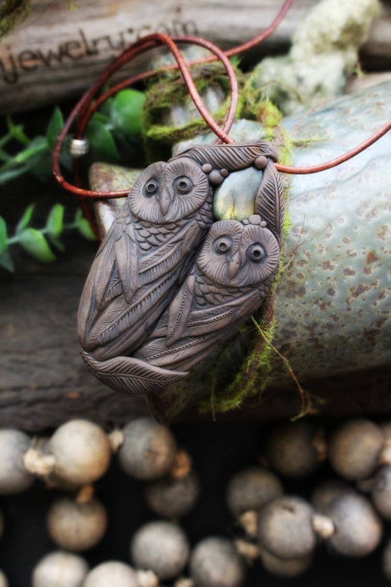 Owl Spirit Animal with Labradorite Necklace. Shamanic Animal Totem Necklace