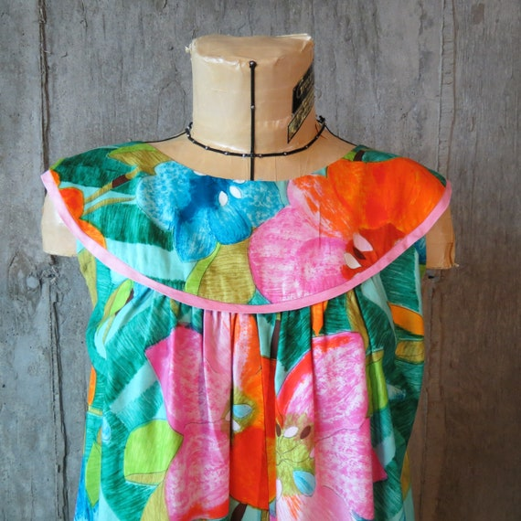 Vintage Malia Hawaiian Mumu, 1960s HawaiianDress,
