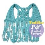 NESO TODDLER size Boho Fringe Vest Crochet PATTERN by Hadley Paige Designs.  Summer wear.  Toddler fashion, Toddler styles