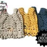AMBROSIA Pineapple Vest // Boho Crochet PATTERN // by Hadley Paige Designs // Instant Pattern Download // Pompom edging // TODDLER