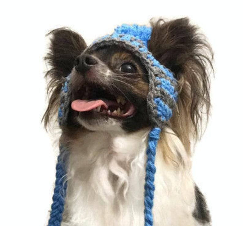 Crochet Dog Pompom Hats one size for tiny-small dog breeds  image 0